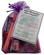 16th Birthday Gift - Novelty Survival Kit for a 'Sweet Sixteen' Birthday -