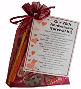 20th Anniversary Survival Kit Gift  - Great novelty present for third anniversary or wedding anniversary for boyfriend, girlfriend, husband, wife