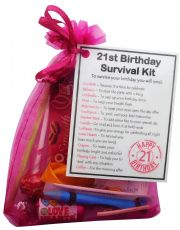 21st Birthday Survival Kit-An excellent alternative to a card