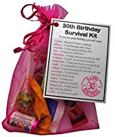 30th Birthday Survival Kit Gift - Novelty 30th gift for her PINK Bag