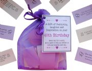 40th Birthday Quotes Gift of Positivity, Laughter and Inspiration