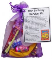 40th Birthday Survival Kit-An excellent alternative to a card