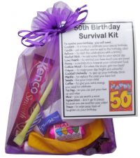 50th Birthday Survival Kit-An excellent alternative to a card