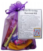 60th Birthday Survival Kit-An excellent alternative to a card