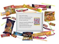 60th Birthday Sweet box with poem on lid - An excellent alternative to a card