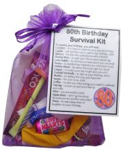 80th Birthday Survival Kit Gift -