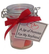A Jar of Promises for My Boyfriend  - A handmade Valentine's Day, Anniversary or Birthday gift