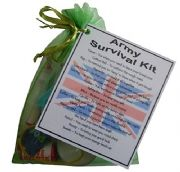 MILITARY / NAVY / ARMY / RAF Novelty Survival Kit Gift  - ARMY