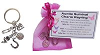Auntie Survival Charm Keyring - Handmade Auntie Gift for Auntie