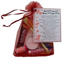 Boyfriend Survival Kit Gift - Great novelty present for Birthday, Christmas, Anniversary or just because ...