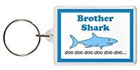 Brother Shark Keyring - Baby Shark Parody, Excellent Christmas Gift, Stocking Filler, Brother Gift