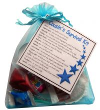 Wedding Gift Ideas For Male Cousin : Cousin Survival Kit For Him - Great gift for a male cousin