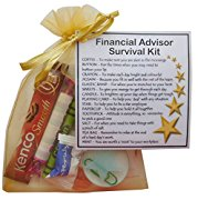 Financial Advisor Survival Kit Gift  - New job, work gift, Secret santa gift for colleague, gift for Financial Advisor gift