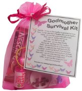 Godmother Survival Kit Gift  - Great present for Birthday, Christmas or Mothers Day