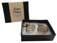 Handcrafted Be my Valentine Cuff links - Excellent Valentine's Day gift