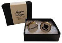 Handcrafted Groom Cuff links - Excellent Groomsman gift, wedding day cufflinks