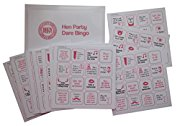 Hen Party Dare Bingo Game including 24 Bingo Cards - Get your night going with Hen Party Games, Hen Night Games, Hen Party Bingo, Hen Night Bingo