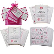 Hen Party Game Pack of 4 Hen Night Games- Hen Night What Am I?, How well do you know the Bride, Hen Party Dare Bingo and Celebrity couple quiz - Multipack, set of Hen Party games