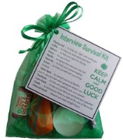 Interview Survival Kit - great novelty gift to say good luck -