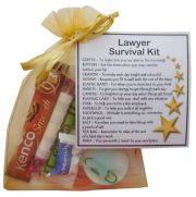 Lawyer Survival Kit Gift  - New job, law student gift, work gift, Secret santa gift for colleague