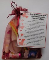 Long Distance Relationship Survival Kit Gift  - Great novelty present for Girlfriend or Boyfriend for Valentines, Birthday, Christmas, Anniversary or just because...