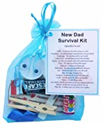 New Dad Survival Kit Gift  - Small Novelty Good luck gift/keepsake for dad to be parent