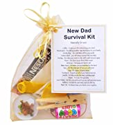 New Dad Survival Kit Gift  - Small Novelty Good luck gift/keepsake for daddy/dad to be