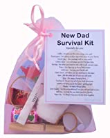 New Dad Survival Kit Gift  - Small Novelty Good luck gift/keepsake for dad to be/new parent