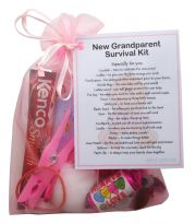 New Grandparent's Survival Kit (Pink)-Great novelty gift for a new grandparent!
