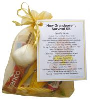 New Grandparent's Survival Kit (Yellow)-Great novelty gift for a new grandparent!