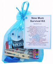 New Mum Survival Kit Gift (Blue)-A sweet gift for mum-to-be / baby shower