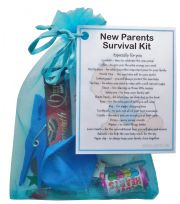 New Parents Survival Kit (Blue)-A sweet gift for parents-to-be / baby shower
