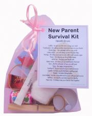 New Parents Survival Kit (Pink)-A sweet gift for parents-to-be / baby shower