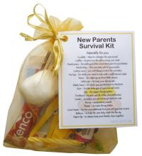 New Parents Survival Kit (Yellow)-A sweet gift for parents-to-be / baby shower