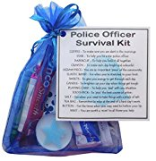 Novelty Police Officer Survival Kit Gift  - policeman gift, policewoman gift, police gift for new police officer, secret santa police