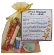 Office Manager Survival Kit Gift  - New job, Secret santa office gift for colleague