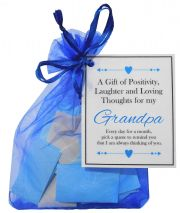 Handmade Grandpa Gift Quotes of Positivity, Laughter and Loving Thoughts. 31 inspirational quotes for each day of the month. Letterbox friendly.