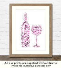 Red Wine Art Print - Great gift idea for house warming, birthdays or christmas