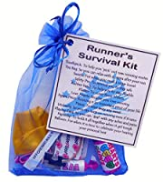 Runner's Survival Kit  - Small Novelty item - organza bag filled with items with sentimental meaning
