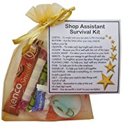 Shop Assistant Survival Kit Gift  - New job, work gift, Secret santa gift for colleague, gift for Shop Assistant gift