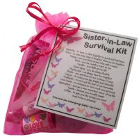 Sister-in-Law Survival Kit Gift  - Great present for Wedding, Birthday, Christmas or just because...