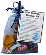 SMILE GIFTS UK 30th Birthday Survival Kit Gift - Novelty 30th gift for him BLUE Bag