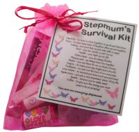 Stepmum Survival Kit - Great present for Birthday, Christmas, Mothers Day or just because...