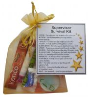 Supervisor Survival Kit Gift  - New job, work gift, Secret santa gift for supervisor