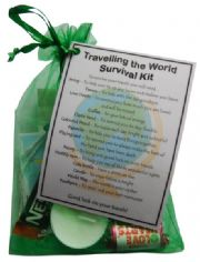Travelling the World Survival Kit  - Great novelty gift!