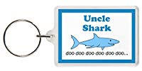 Uncle Shark Keyring - Baby Shark Parody, Excellent Christmas Gift, Stocking Filler, Uncle Gift