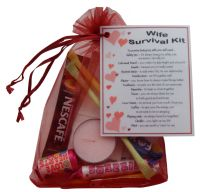 Wife Survival Kit Gift - Great novelty present for Birthday, Christmas, Anniversary or just because ...