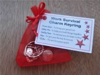 WORK Survival Charm Work Survival Charm Keyring - Work Secret Santa gift, secret santa gifts, work colleague gifts, gift for secret santa, new job gifts