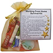 Working from Home Survival Kit  - Novelty Gift for Home Worker, Secret Santa, Christmas Work Gift